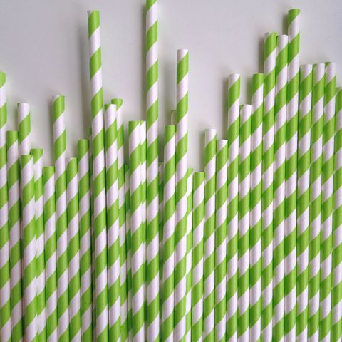 Green Stripe Paper Straws – The Sweet Hostess