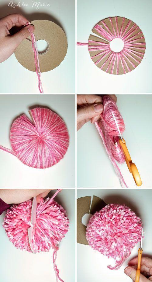 Para empezar casi desde cero: esta es la forma correcta de hacer tu pompón. Vía ashleemarie.