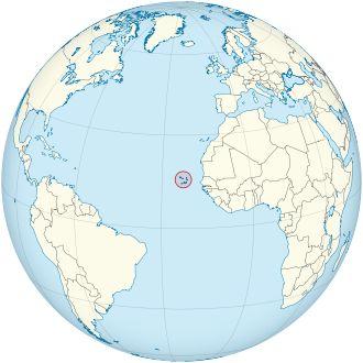 Cape Verde on the globe (Cape Verde centered).svg