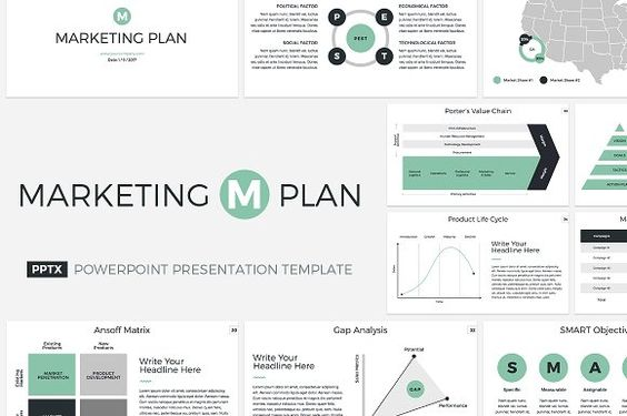 Marketing Plan PowerPoint Template by CreativeSlides on - gap analysis template
