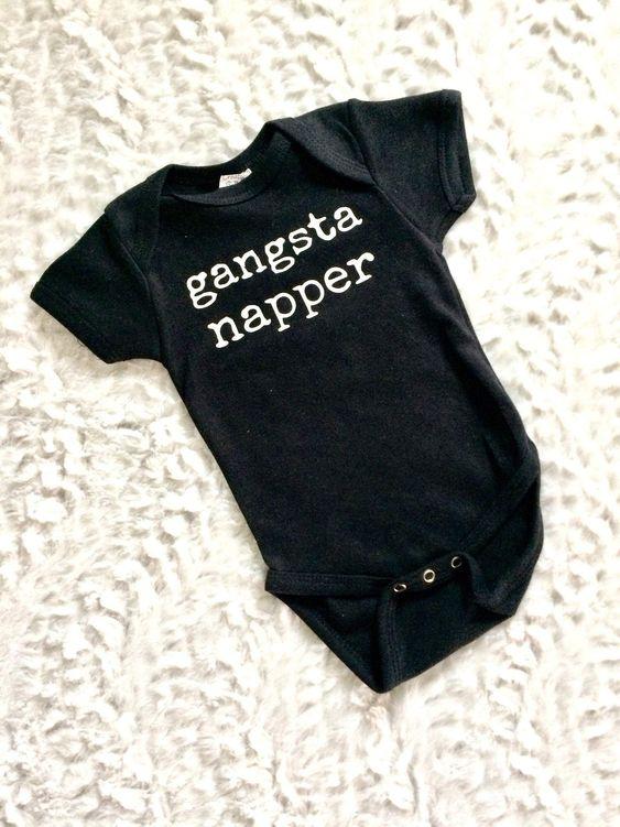 IRON ON ONLY Gangsta Napper Onesie Iron On Baby Girl or Boy Onesie