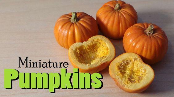 Miniature Pumpkins For Fall & Halloween - Polymer Clay Tutorial