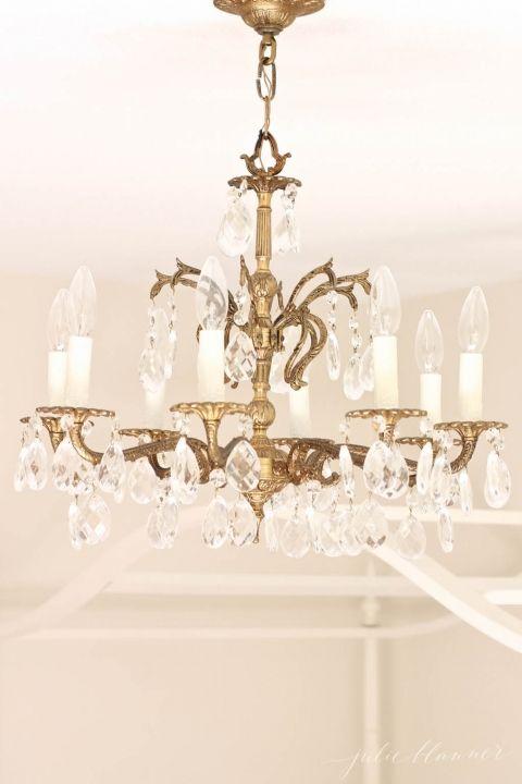 Brass Glass Chandelier For Little Girl S Bedroom