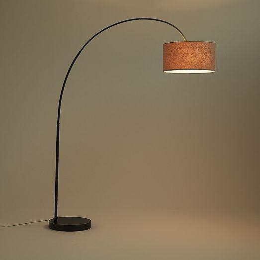 Floor Lamp Overarching Modern Shades Ikea Chrome Metal Bright