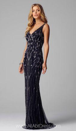 Alberto Makali Elegant Beaded Evening Gown 184384  Gala and Ball ...