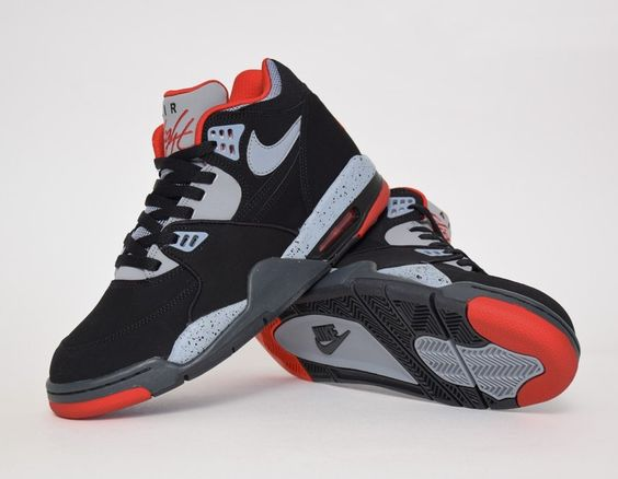 Nike Air Flight 89 Black Cement University Red