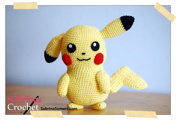 Pikachu Pokemon Free Amigurumi Pattern Peluche Pokemon ...