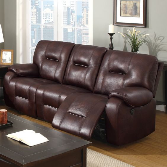Burgundy And Brown Living Room Sofas Modern Furniture