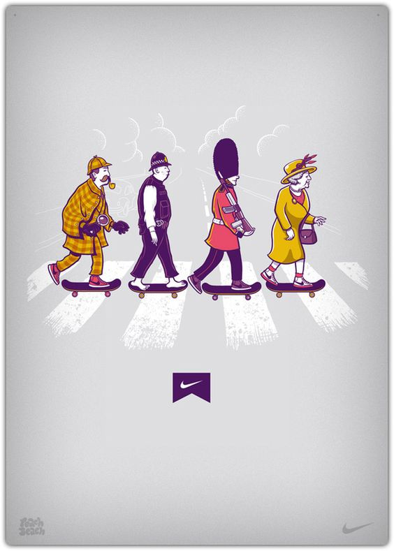 Illustrations for Nike by PEACHBEACH , via Behance