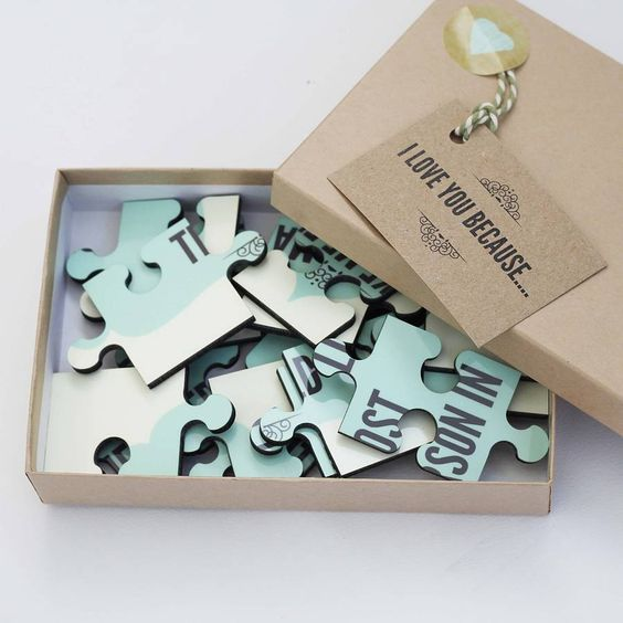 Personalised 'I Love You Because…' Wooden Jigsaw