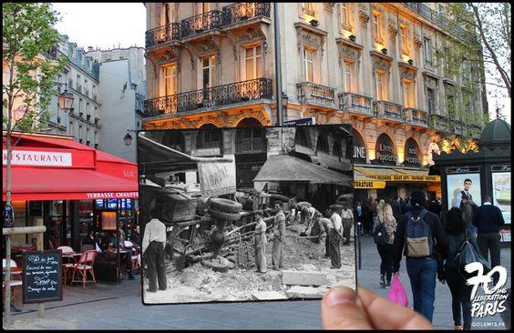 50 photos de la Libération de Paris se fondent dans le présent