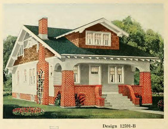 From central lumber 39 s house plan book 1920 house for Early 1900s house plans
