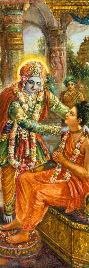 Lord Krishna & Srila Narada Muni: