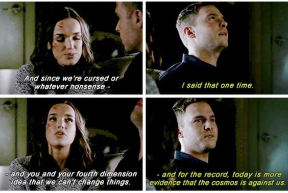 """""""Today is more evidence that the cosmos is against us"""" - Leo and Jemma #AgentsOfSHIELD"""