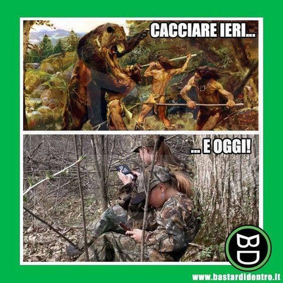 #evoluzione della caccia #bastardidentro #cellulare www.bastardidentro.it