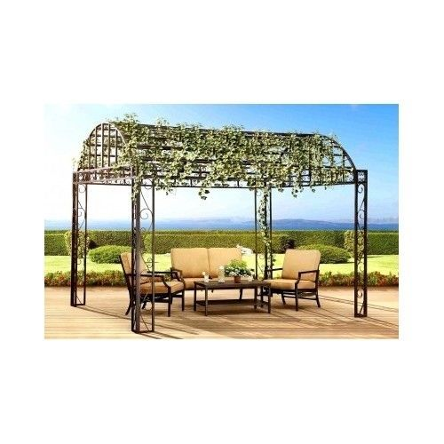 Metal Garden Pergola Outdoor Large Steel Grape Vines Patio Backyard Gazebo  Shade #MetalGardenPergola   Garden Ideas   Pinterest   Grape Vines,  Pergolas And ...