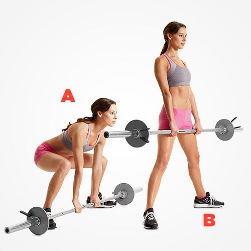 9 Burn Tastic Ways To Tone Up With A Barbell Barbell Workout Dead Lift Workout Barbell Deadlift