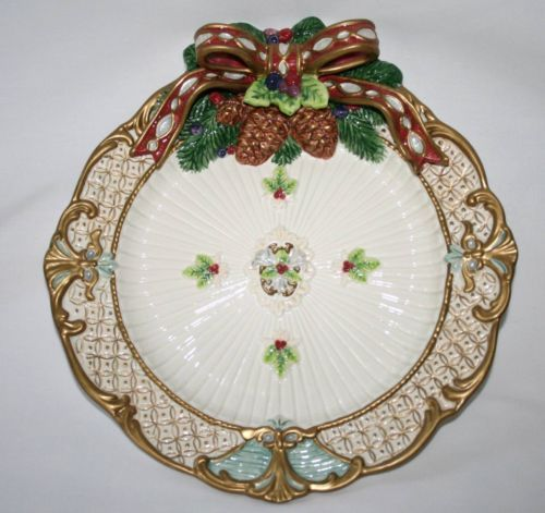 Fitz floyd classics florentine christmas canape plate for Fitz and floyd canape plate