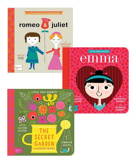 BabyLit Romeo & Juliet, Secret Garden & Emma Board Book Set | zulily