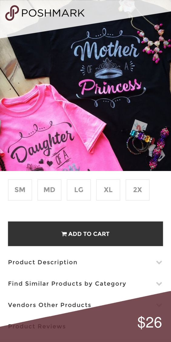 Mother of a Princess tee shirt Cheekys Brand 'Mother of a Princess' unisex cut tee shirt. Please note that orders may take up to 14 days to ship due to all shirts being hand printed in house. Thank you for shopping my boutique! Cheekys Brand Tops Tees - Short Sleeve