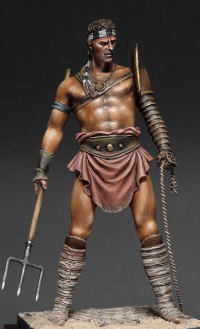 Resultado de imagen de laquearius gladiator painting
