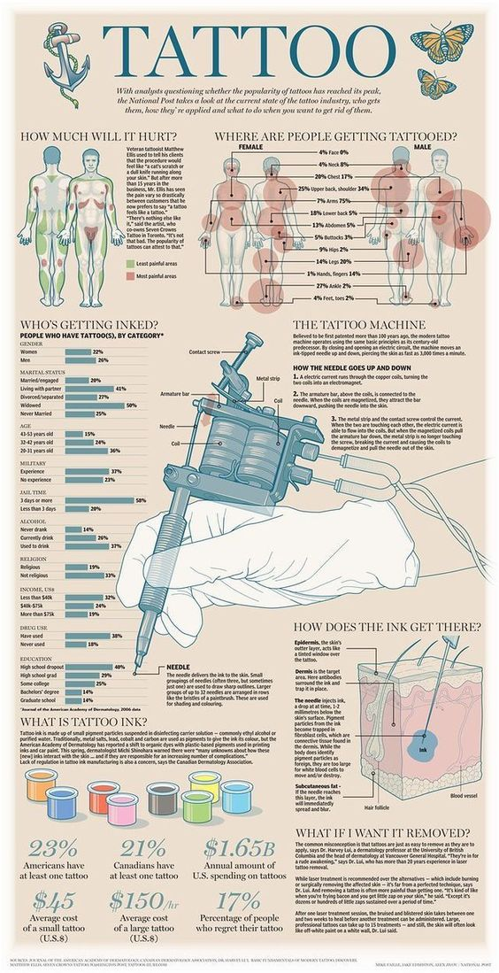 Awesome Tattoo Infographics Give You All You Need To Know!! | Tattoodo.com