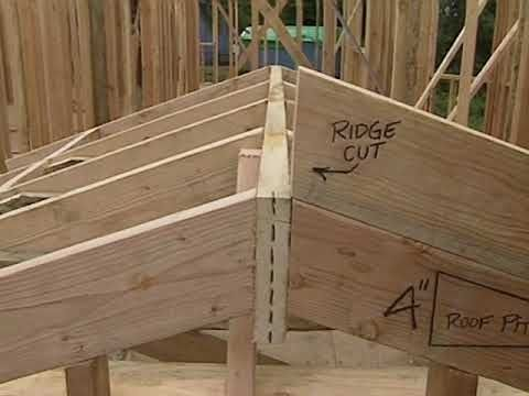 How To Build A Shed Building Installing Roof Rafters Youtube