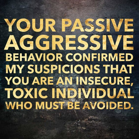 Passive aggressive/covert Narcissist who use indirect digs to get to you.  They can't say it to your face, therefore have to use underhand tactics.  They are also the most two faced people you'll ever met. They act ever so nice in front of others and to your face, but behind closed doors they wish for your downfall.  They are bunch of haters who use their cowardly nature to their advantage. When you confront them they act the victim and accuse you of being the aggressor. It's never their…