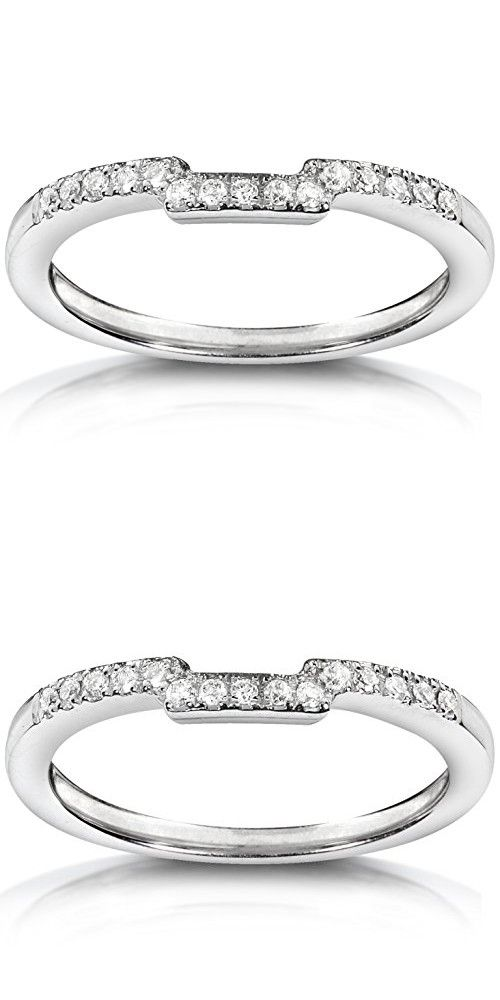 Round Diamond Curved Wedding Band 1 10 Carat Ctw In 14k White Gold With Images Curved Wedding Band Wedding Bands Round Diamonds