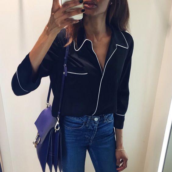 2016 Pajama Style Shirt | Zara – . Bag | Chloe: