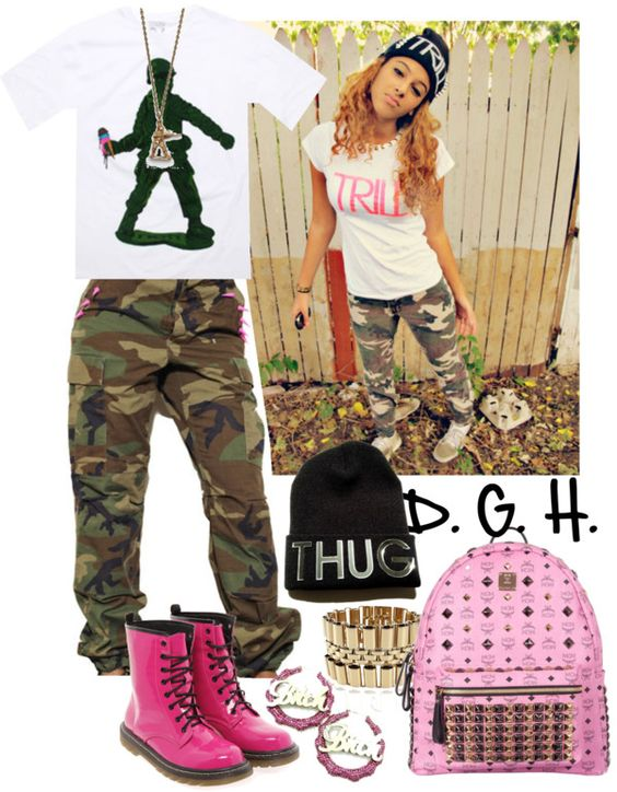 """Thug Combat."" by dopegenhope ❤ liked on Polyvore"