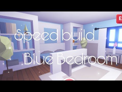Adopt Me Blue Bedroom Speedbuild Youtube Blue Bedroom Cute Room Ideas My Home Design
