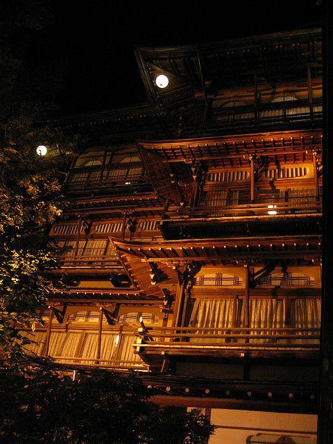 Japanese Inn at hot spa resort
