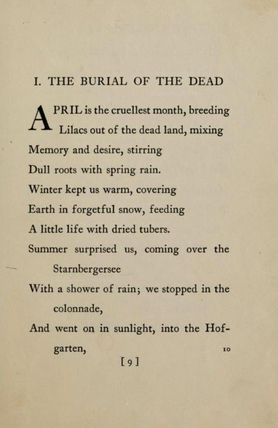 The Waste Land TS Eliot