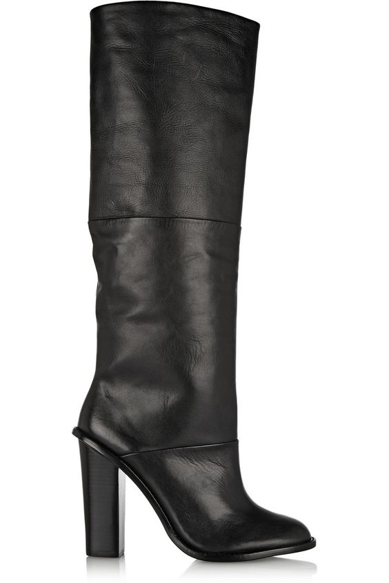 Vlada leather knee boots by Tibi - Found on HeartThis.com @HeartThis   See item http://www.heartthis.com/product/321122585997215855/
