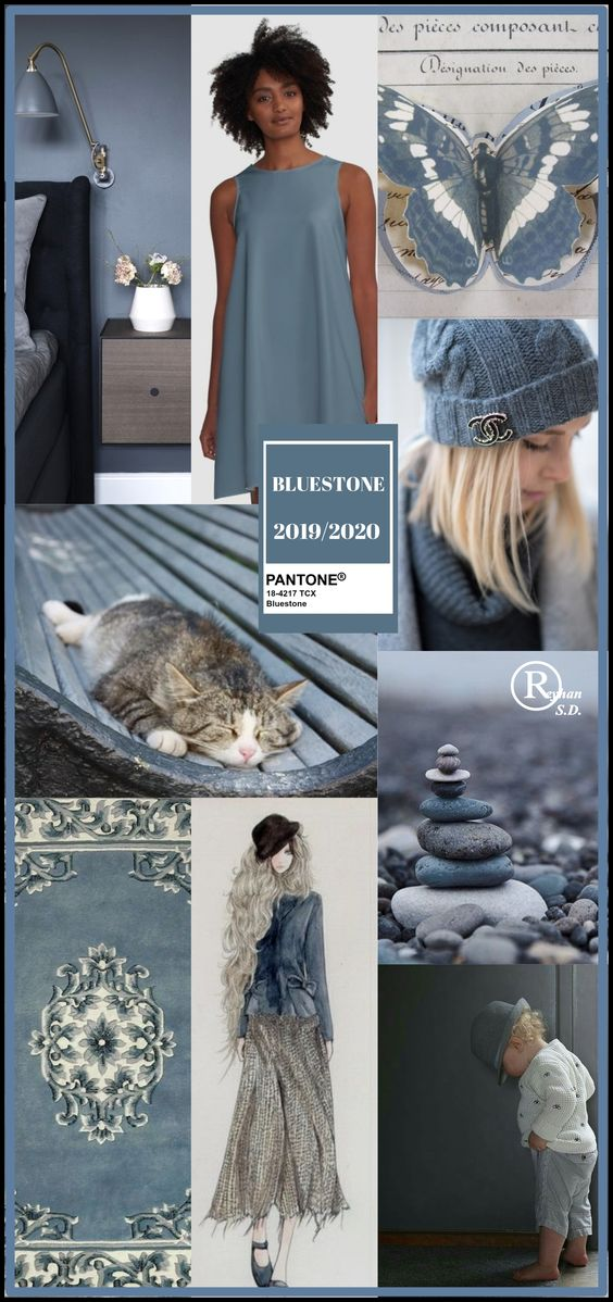 '' Bluestone'' Pantone - Autumn/ Winter 2019/ 2020 Color- by Reyhan S.D.