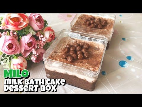 Milo Milk Bath Cake Dessert Box Milo Tres Leches Cake Youtube Hidangan Penutup Oreo Desserts Tres Leches Cake