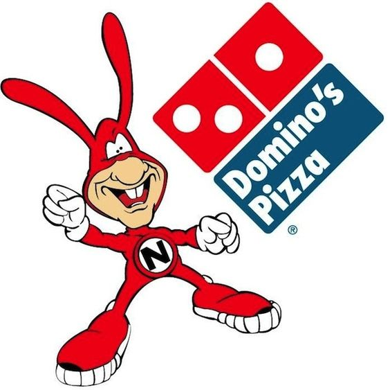 """80s Domino's...Avoid the Noid! My father was a delivery driver for domino's and had lots of """"Noid"""" stuff."""