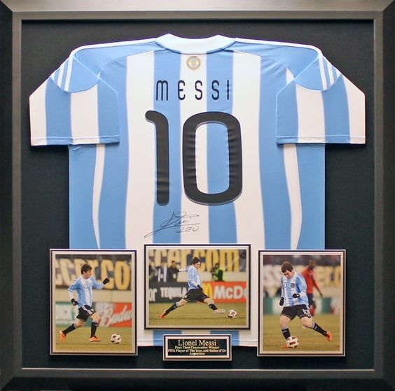 Lionel Messi Messi And Framed Jersey On Pinterest