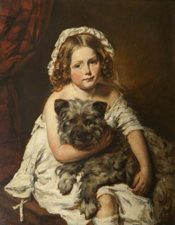 Young Girlwith a Dog / Edwin Henry Landseer