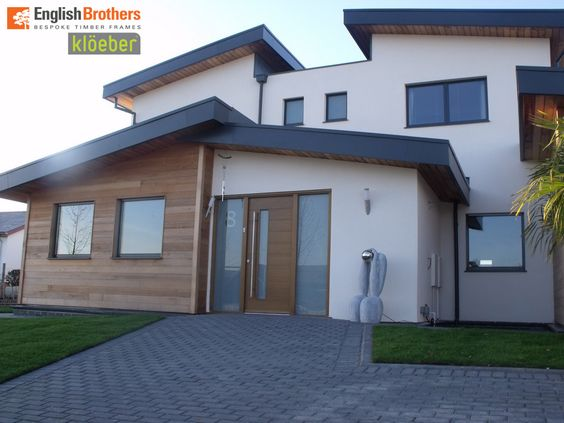 Contemporary house windows uk google search front for Contemporary front porch designs uk