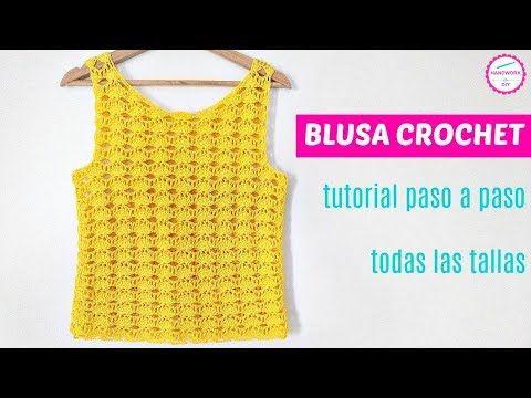 Cómo Tejer Blusa A Crochet Muy Fácil Paso A Paso Aprende A Tejer Crochet Con Tutoriales Faciles D Tutorial De Blusa Patrones Para Vestidos De Ganchillo Croché