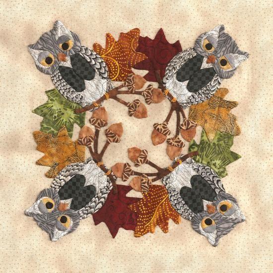 P3 Designs: Photo Gallery: blk #11 Owl Wreath