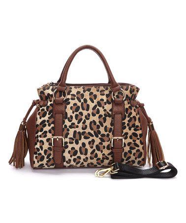 Look at this #zulilyfind! Leopard Charlotte Satchel #zulilyfinds
