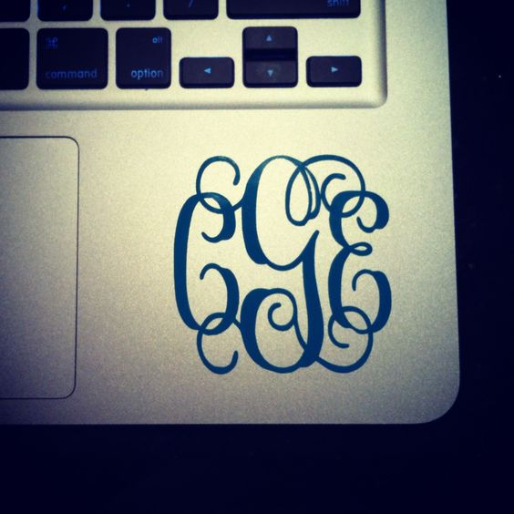 Laptop monogram