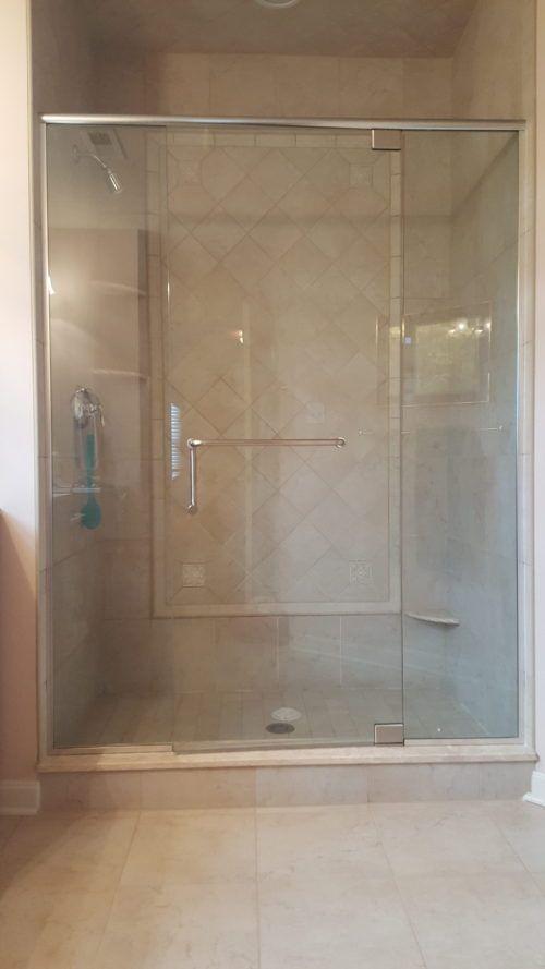 Panel Door Panel With Handle Towel Bar Combo In Brushed Nickel From Shower Door Specialists In Penn With Images Shower Doors Shower Door Handles Brushed Nickel Shower Door