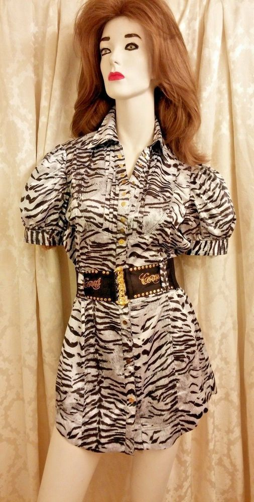 COOGI  OPENING BID $25.99 Zebra studded Mini Dress NWT #COOGI #ShirtDress #anytime