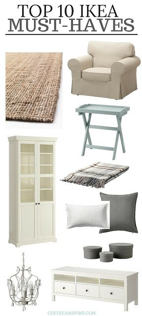 Shopping at ikea can be over whelming! Here are a few ikea must haves, really affordable furniture and accessories to add to your #homedecor. coffeeandpine.com