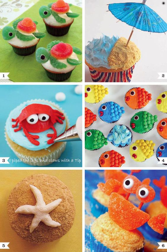 Creative Cupcake Recipes And Decorating Ideas Of Under The Sea Cupcake Decorating Ideas Creative Cupcake