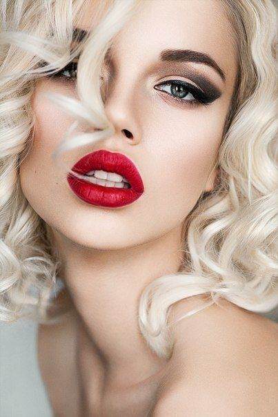 Sexy red lipstick gallery